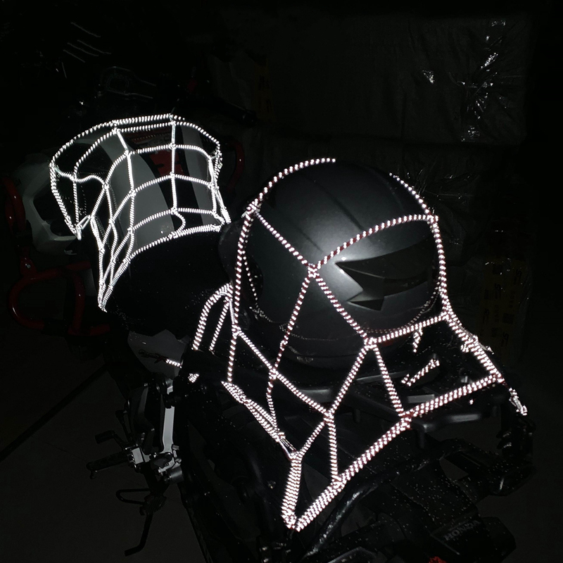 40x40cm Reflection Motorcycle Cargo Net Motorcycle ATV Luggage Storage Organizer Net