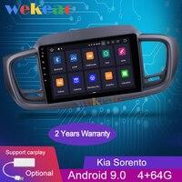 Wekeao Touch Screen 10.1 1Din Android 9.0 Car Radio Automotivo Car Dvd Player For Kia Sorento Android Auto GPS Navigation 2015+
