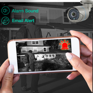 Image 5 - Techage 8CH 1080 1080P POE NVR キットセキュリティカメラシステム H.265 双方向オーディオ愛 IP カメラ屋内屋外 CCTV ビデオ監視セット