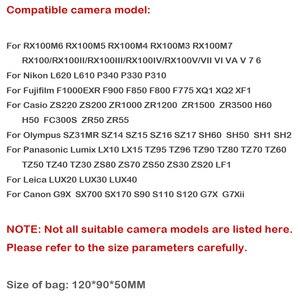 Image 3 - Túi Hộp Da Cho Sony ZV1 RX100II III VI V IV 7 6 5 4 3 RX100M6 RX100M5 RX100M4 RX100M3 RX100M7 Ốp Lưng Nikon Olympus