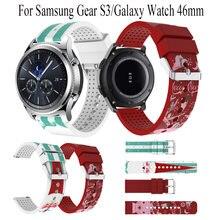 Ремешок силиконовый для samsung gear s3/galaxy watch 46 мм оригинальный