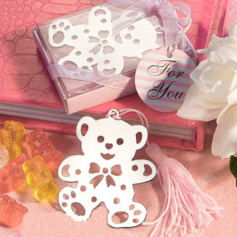 Creative Gifts Cartoon Boxed Metal Hollow Out Bookmark Cute Little Bear Bookmark Manufacturers Direct Selling Small Gift