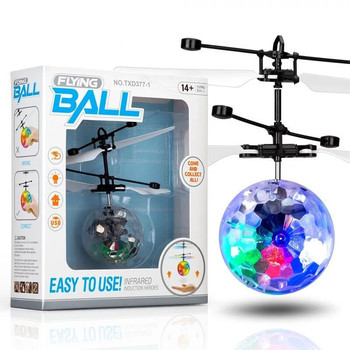 High quality cross-border for high light emitting drone suspended induction crystal ball flying toy
