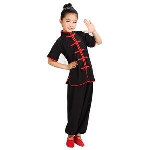 Image 4 - 판매 Wushu 제복 아이들 중국 전통 의류 아이 무술 제복 Kung Fu 한 벌 여아 소년 단계 성과 세트
