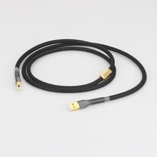 Hifi 5N OCC טהור נחושת DAC USB 2.0 כבל מפענחי צליל נתונים חוט עם זהב מצופה USB תקע
