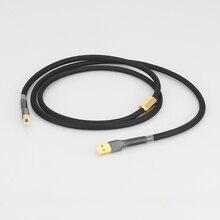 Hifi 5N OCC pur cuivre DAC USB 2.0 câble décodeurs sonores fil de données avec prise USB plaquée or