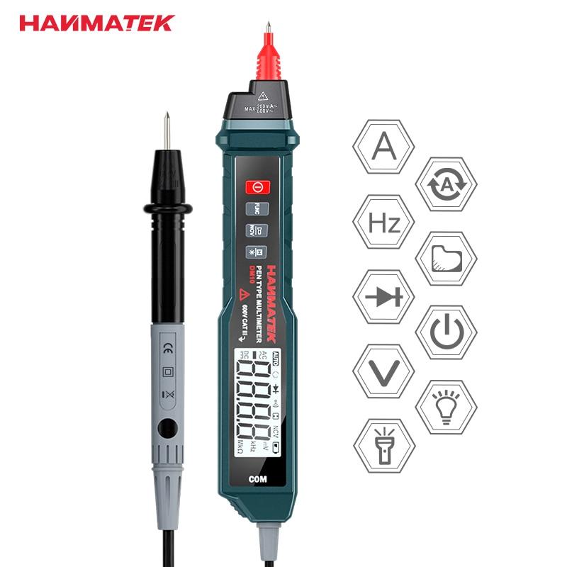 HANMATEK DM10 Ручка Тип Цифровой мультиметр Бесконтактный ACV/DCV ручной электронный тестер