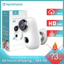 Ip-Camera Battery Cam Solar-Panel Night-Vision Wifi Security Motion Rechargeable Weatherproof