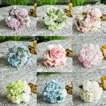 Wedding Accessories  Ramos De Novia Artificiales Fresh 30cm Pink Blue Cyan Purple Bride Bouquet Free Shipping