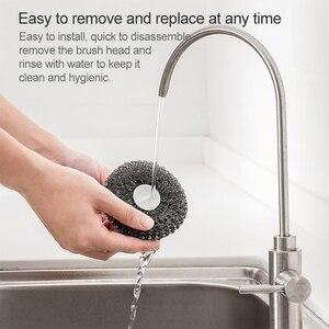 Image 3 - Xiaomi Jotun Judy PP Handle Stainless Steel Ball Cleaning Brush Washing Pot Brush Kitchen Tool Kit with 3PCS Replacement Brush
