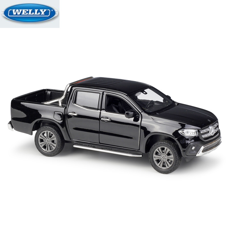WELLY 1:27 MERED BNZ X-Class Diecast Pickup Truck Simulation Alloy Car Model Toy Collection Decoration Gift For Kids Metal Toys