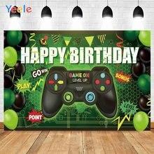 Счастливый фон для фотосъемки на день рождения Фотофон игровая