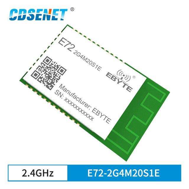 CC2652P ZigBee Bluetooth Multi protocol 2.4GHz SMD Wireless SoC Module 20dBm Transceiver Receiver PCB Antenna E72 2G4M20S1E