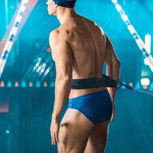 4M Swim Trainer Elastic Rope Swimming Exerciser Safety Leash Adjustable Training Resistance Belt Latex Tube Elastic With Bandage эспандер liveup dual tube exerciser
