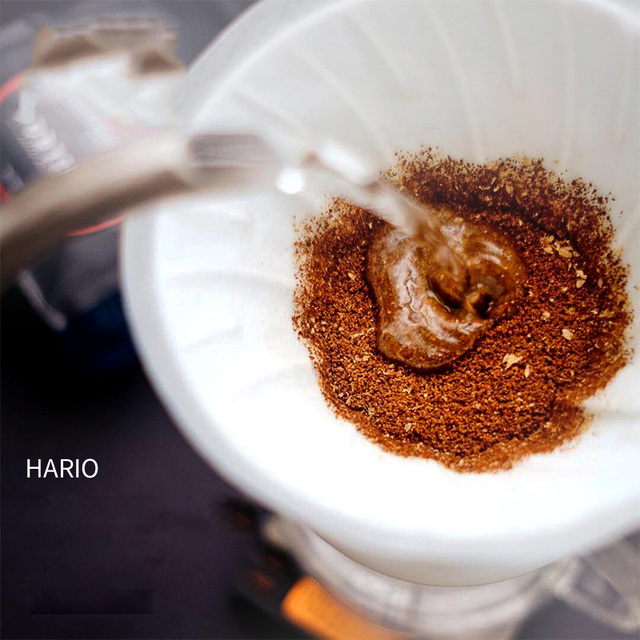Japan Imports Hario V60 Coffee Filter 01 02 Count Coffee Natural Paper Filters For 4 Cups For Barista VCF-01-100 Dripping Paper 5