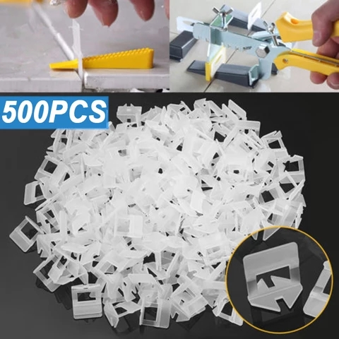 500pcs Plastic Ceramic Tile Leveling System Clips Plier Tiling Tile Leveler Tool Kit Wall Floor Carrelage For Tiling Tools