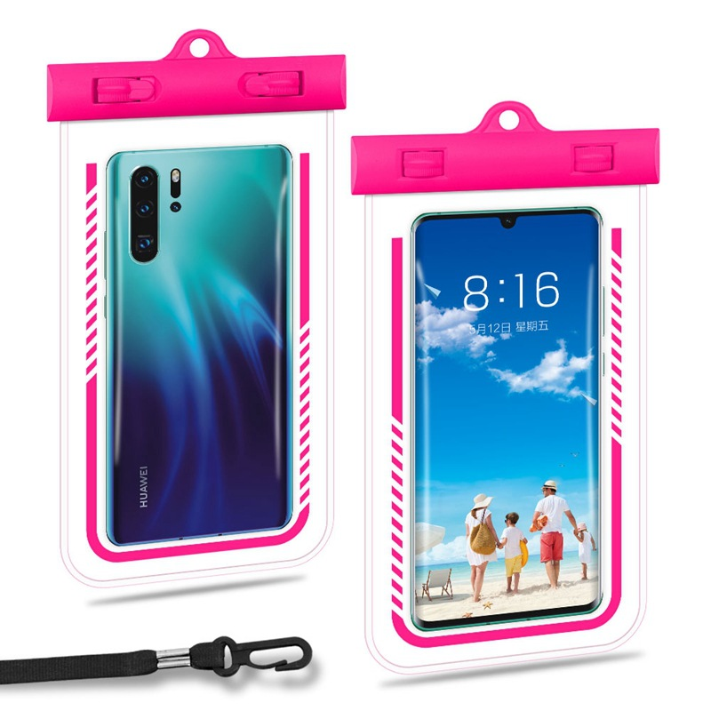 A Generation Of Fat Swimming Diving TPU Cellphone Waterproof Case Large Size Transparent Halter Waterproof Mobile Phone Bag Phon