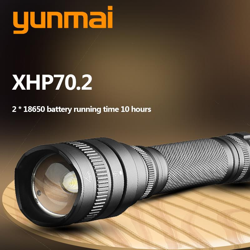 XHP70 2 1515 The most powerful led flashlight  xhp50 XHP70 30w 18650 3200lm zoomable Lantern torch