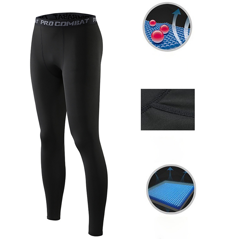Breathable Jogging Pants Men\'s Pants Anti-sweat Elastic Quick Drying Sports Running Fitness Training Tights Trousers Sweatpants
