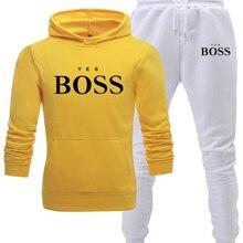 Conjuntos para hombre informales, chándal de moda, ropa deportiva informal, y pantalón Sudadera con capucha, conjunto de dos piezas
