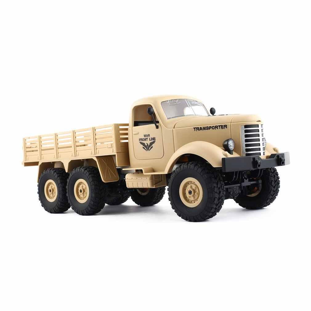 Jjr/c q60 1/16 2.4g 6wd rc fora de estrada caminhão militar transportador carro rc veículo de controle remoto para crianças presente crianças brinquedo