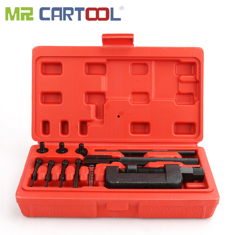 MR CARTOOL 13 pièces outil de réparation de coupeur de Rivet de disjoncteur de chaîne résistant pour le moto