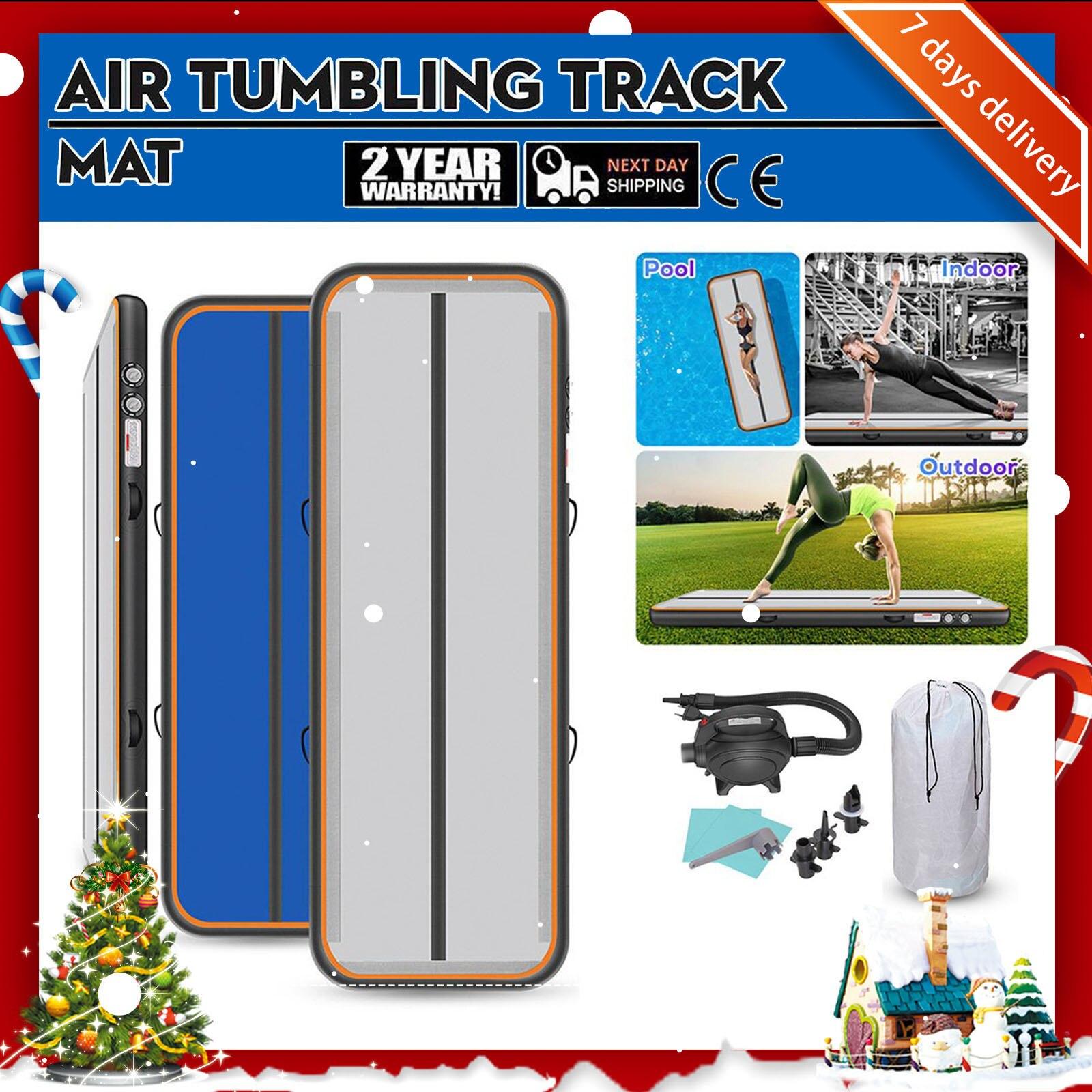 Rimdoc Inflatable Air Track Gymnastics Mats For Gym Kids Inflatable Gym Mat Yoga Mat Tumbling Mat For Traning/Yoga/Cheerleading