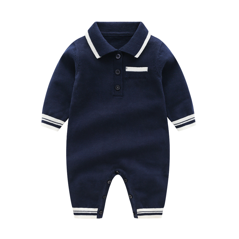 Image 2 - 2020 Newborn baby boy Knitted rompers Baby Clothes Infant Boy Overall Children Outfit Autumn Knitted Baby girls Casual clothingRompers   -