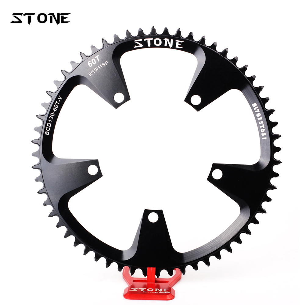 BCD 130mm Driveline CNC Alloy 7075 Road Bike Bicycle Cycling Chainring 60T