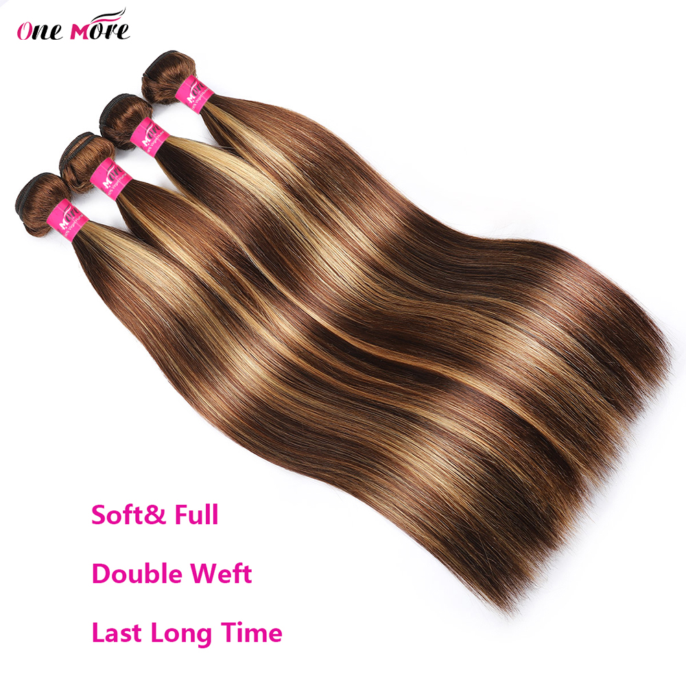 4 27 Highlight Bundles Bone Straight Bundles   Bundles 8-28 Inch  s Double Weft 4