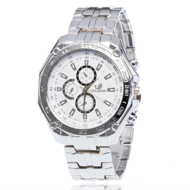 Manufacturers Direct Selling Orient Watch oriando Alloy Steel Belt Three-Eyed Six-pin MEN'S Watch Europe And America Hot Selling