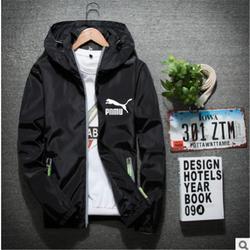 2021 new printed windbreaker jacket men's autumn outdoor hooded reflective jacket men's large size windbreaker zipper thin jacke