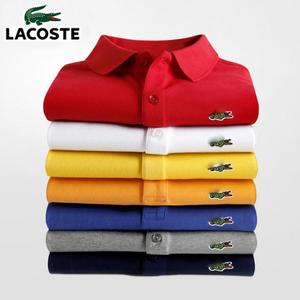 Men Summer Polo Shirt Brand Fashion Cotton Short Sleeve Polo Crocodile Shirts Male Solid Jersey Breathable Tops Tees 321
