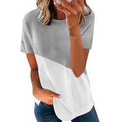 2021 Summer New Fashion Women's Printed Short Sleeve Round Neck Casual Soft and Comfortable Thin Plus Size T-shirt