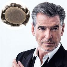 Швейцарские полностью кружевные мужские волосы 1b черного цвета