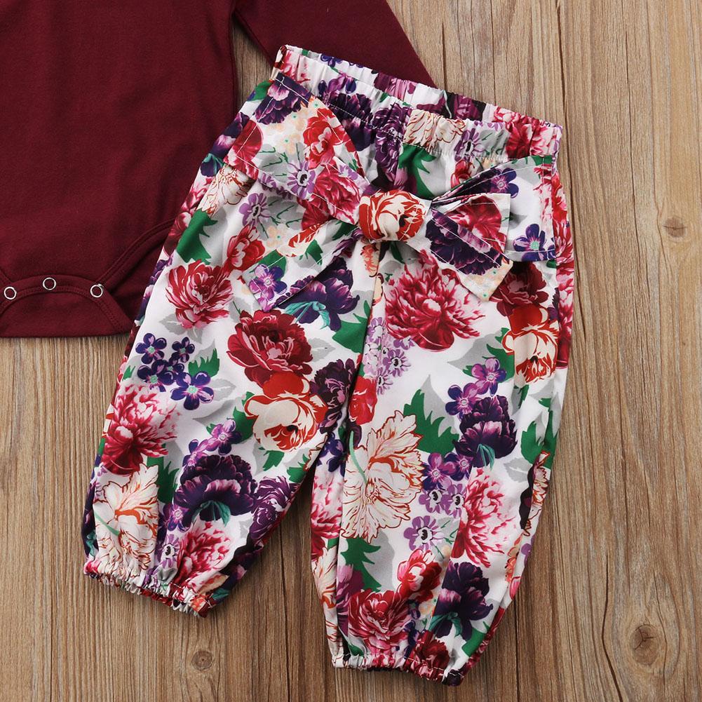 Romper and Floral Pants Set
