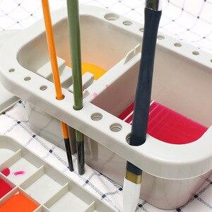 Image 3 - MyLifeUNIT תכליתי צבע מברשת אגן עם מברשת בעל פלטת צבעי מים עט אקריליק שמן מברשת לשטוף עט דלי