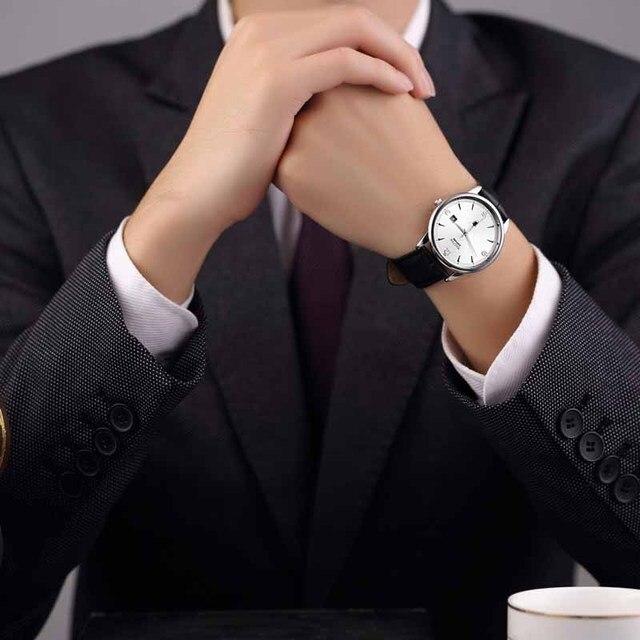 nakzen роскошные кварцевые часы для мужчин кожаные наручные фотография