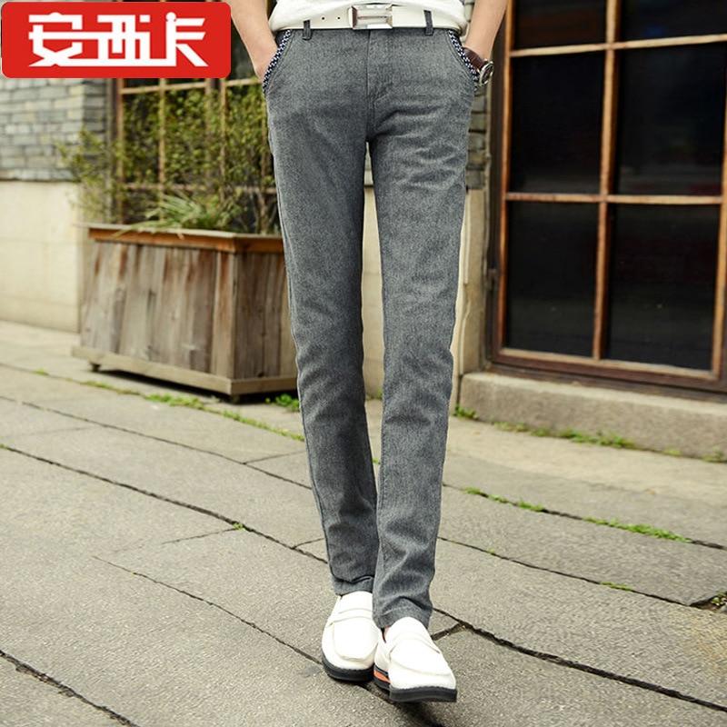 Spring And Summer-Cotton Linen MEN'S Casual Pants Men's Fashion Slim Fit Pants Men Casual Trousers 823