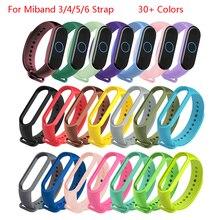 Цвета браслет для Xiaomi Mi Band для детей 4, 5, 6, спортивный ремешок силиконовый наручный ремешок для Xiaomi Mi band 5 6 браслет Miband 4 3 ремень