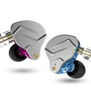 Image 2 - Newest KZ ZSN PRO 1BA+1DD Hybrid technology HIFI Metal In Ear Earphones Bass Earbud Sport Noise Cancelling Headset ZS10 PRO ZSX