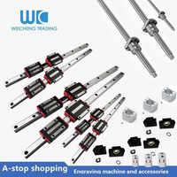 6set linear guide rail HGR20-600/1000/1500mm+HGH20CA+4pc SFU1605-600/1000/1500/1500mm+DSG16H+bkbf12+name23 steepet motor bracket