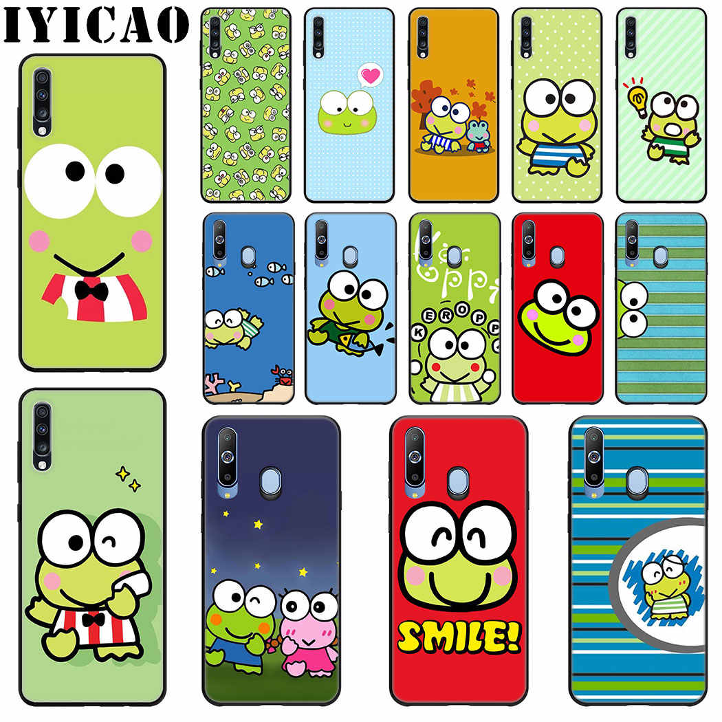 IYICAO かわいい漫画カエル Keroppi サムスンギャラクシー J6 A9 A8 A7 A6 プラス 2018 A5 A3 2016 2017 電話ケース