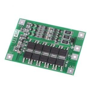 Image 4 - 小売3s 40A 18650リチウムイオンリチウム電池充電器保護ボードpcb bmsドリルモータ11.1v 12.6vリポ電池モジュール