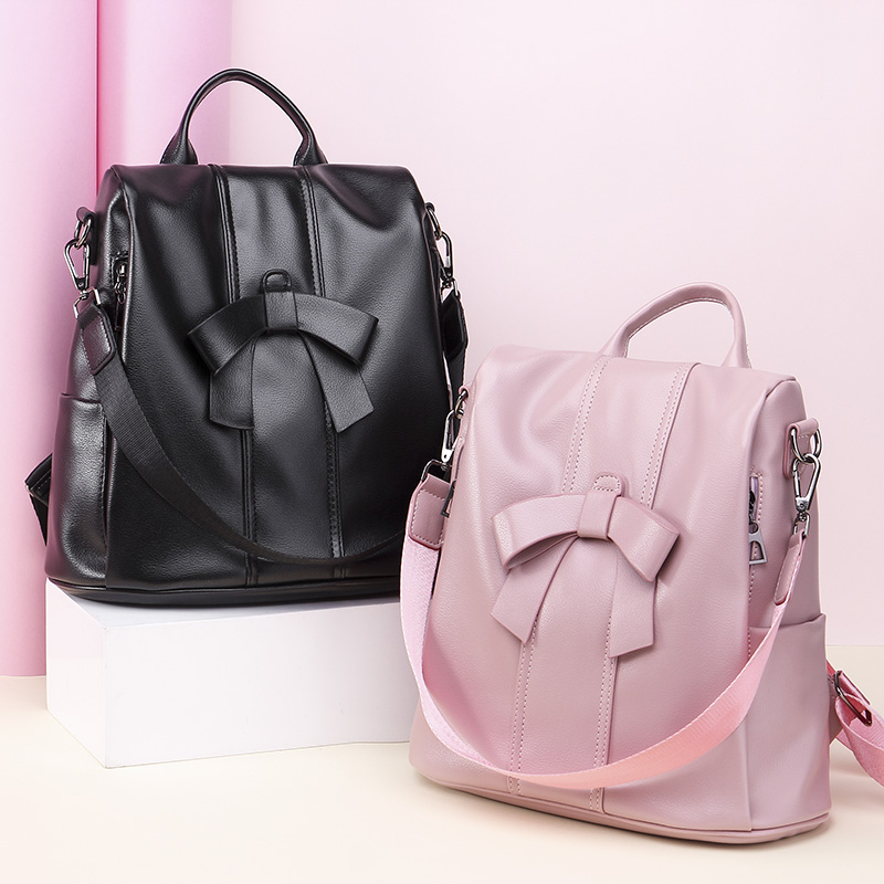 New Fashion Women Backpacks 2019 Waterproof Oxford Backpack Female Bow Anti Theft Bagpacks School Bags For Girls Mochila Mujer