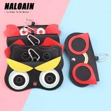 NALOAIN Sunglasses Case Women PU leather Cute Cartoon Portable Eye Glasses Bag Storage Protection