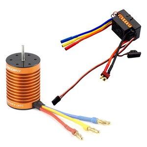 Image 1 - OCDAY 9T 4370KV 4 polen Sensorless Borstelloze Motor met 60A Electronic Speed Controller Combo Set voor 1/10 RC Auto en Truck