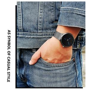 Image 4 - DONROSIN Men Casual Slim Black Mesh Steel Wrist Sport Watch Fashion Mens Watches Top Brand Luxury Quartz Watch Relogio Masculino