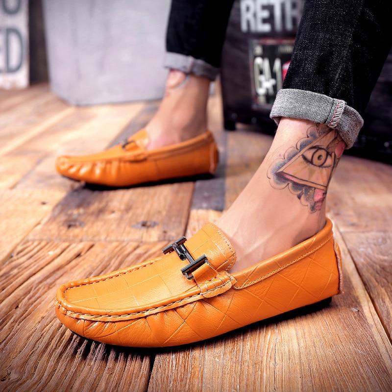 Classic Leather Men Comfortable Shoes cb5feb1b7314637725a2e7: Black|Blue|khaki|White