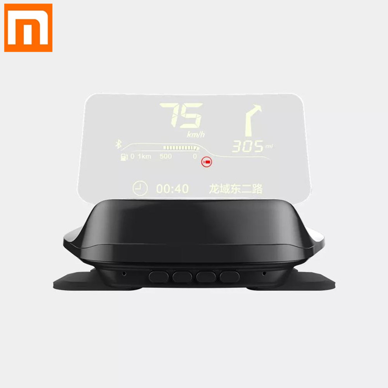 New Xiaomi Carrobot Intelligent Car HUD Head Up Display Bluetooth Version Car Speed Projector GPS Navigation Image Reflector